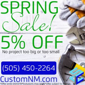Spring Construction Sale